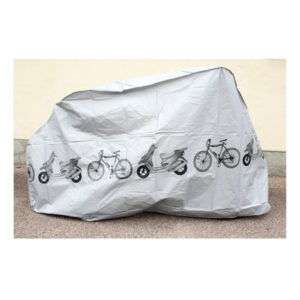 Regnskydd för cykel  Grå plast