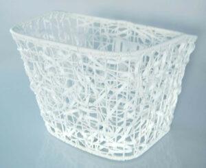Framkorg fastmontering Vit Plast Rotting